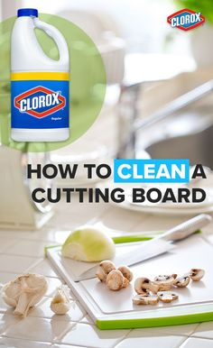 Our tips for cleaning cutting boards will chop out unsafe germs. Here are some handy solutions from Clorox®, that will help keep your cutting boards clean in no time. Click to read more.