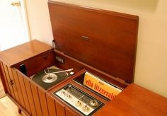 "Only parents had these. It was called a hi-fi as in ""high fidelity"" sound. Children like me had little plastic record players."