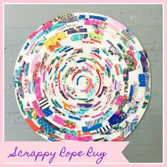 sewhungryhippie: Make a Scrappy Rope Rug Best Picture For DIY Rug sheets For Your Taste You are look Rag Rug Diy, Rag Rugs, Rug Loom, Rag Rug Tutorial, Rope Rug, Rope Crafts, Braided Rugs, Fabric Patch, Textiles