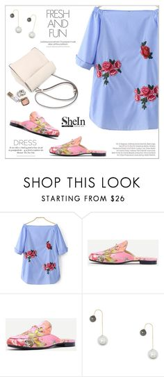 """""""Spring Trend: Off-Shoulder Dresses"""" by aurora-australis ❤ liked on Polyvore featuring WithChic, Balenciaga, Sheinside and offshoulderdress"""