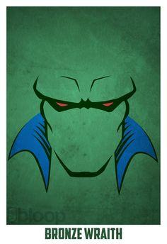 Bloops superhero posters - Marsian Manhunter