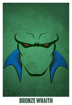 Bloops superhero posters - Marsian Manhunter #SonGokuKakarot
