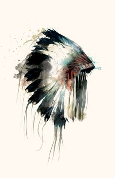 Nice watercolour. Headdress by Amy Hamilton