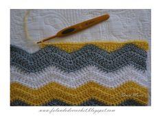 crochê Tinas Handwerk: 6 Zick-Zack-Häkeldecke Choosing The Best Woodworking Saws You will eventually Chevron Crochet, Punto Zig Zag Crochet, Crochet Ripple, Crochet Blocks, Crochet Girls, Crochet Borders, Crochet Stitches Patterns, Crochet Chart, Crochet Home