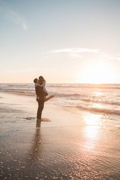 Alicia and Andy's sweetly simple engagement session on Windansea Beach in San Diego, California. Photos by: Studio Sequoia Beach Engagement Photos, Engagement Session, San Diego Beach, La Jolla, Wedding Bells, Kisses, Diamonds, California, Studio