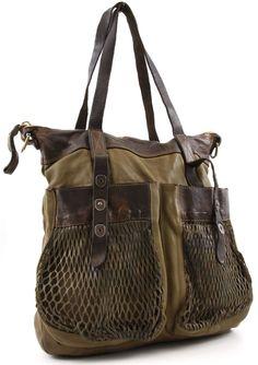 Campomaggi Vitello Tote Leather olive-green 40 cm - C1239VTVLCF-1605 | Designer Brands :: wardow.com