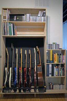Guitar Stand - Have You Been New To The Guitar? Home Recording Studio Setup, Home Studio Setup, Music Studio Room, Guitar Storage, Guitar Rack, Guitar Stand, Guitar Display, Home Studio Musik, Home Music Rooms