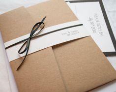Schwarz & Kraft Spitzen schneiden Hochzeitseinladung 5 X 7