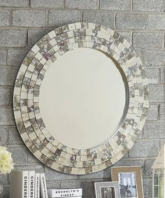 Another great find on #zulily! Frosted Tile Frame Wall Mirror #zulilyfinds