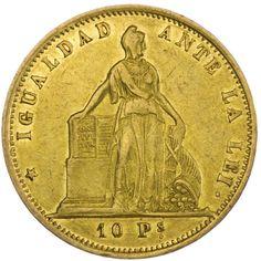 Chile, 10 Pesos 1859 Gold