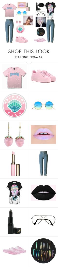 """""""Moonchild 12-"""" by moonchildfitters on Polyvore featuring WithChic, Kenzo, Illesteva, Irene Neuwirth, Clarins, Barry M, ZeroUV and Puma"""