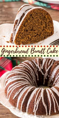 This gingerbread bundt cake is moist and flavorful with a delicious brown sugar molasses flavor. It's an elegant, simple holiday dessert to get you in the Christmas spirit. recipe from Just So Tasty Recipes cake Recipe Mini Desserts, Easy Holiday Desserts, Christmas Deserts, Holiday Cakes, Christmas Baking, Holiday Recipes, Christmas Cakes, Elegant Desserts, Christmas Foods