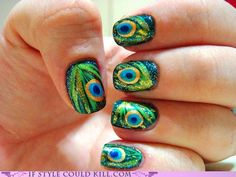 Peacook nails! Must try this