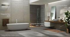Salle De Bain Carrelage Gris salle de bain patagonie gris origine/blanc homeproject.fr