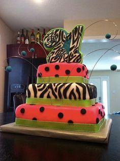 Zebra & Polka Dots!    Contact Info: bakednola@gmail
