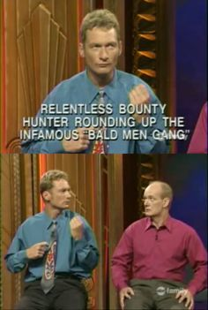 ONE OF THE BEST SCENES EVER. Ryan's dah best Funny Jokes, Hilarious, Whose Line, Bald Men, Comedy Show, Best Tv Shows, Funny Cute, Funny Photos, Comedians