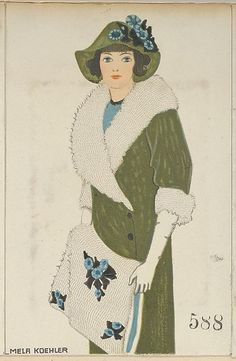 Color Lithograph, Fashion (Mode), Mela Koehler (Austrian, Vienna ...