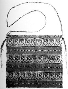 SionImage006.jpg 608×800 pixels 14th century knitted relic pouch: one of five from the treasury of the cathedral in Sion, Switzerland. Described in Rutt's _A History of Hand Knitting_ p. 50-52. In Rutt, this is pattern V.