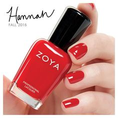 """""""#ZoyaHannah is a perfect, classic red cream from the #ZoyaFocus collection! Tag a friend who you know LOVES red! ❤️ #everydayzoya #love #red"""""""
