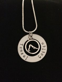 Love yoga / Pilates  Personalized Hand Stamped Necklace by Giftitright on Etsy