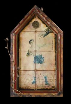 House-shaped assemblages by Morgan Brig