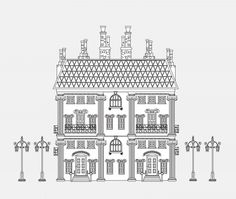 city house coloring page