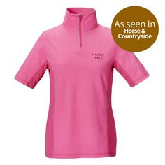 View our Harry Hall Dartford Womens Polo Shirt Pink from our extensive womens tops selection, designed with both effortless style and maximum comfort in mind! Zip Puller, Polo Shirt Women, Sport Fashion, Style Fashion, Overalls, Side Panels, Summer Months, Pink, Mesh