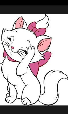 Marie by The Aristocats iMessages Sticker Disney Drawings, Cartoon Drawings, Cute Drawings, Drawing Sketches, Disney Cats, Disney Cartoons, Marie Cat, Images Disney, Cute Disney