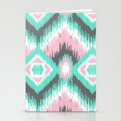 Pastel Ikat Stationery Cards by Joanne Paynter - $12.00
