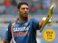 yuvi tops the list of highest paid player