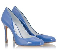 b6792709f878 Pedro Garcia BRIGITTE Blue patent leather high heel pumps
