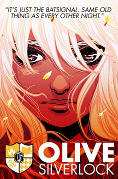 "Olive Silverlock by Becky Cloonan | DC Unveils The ""Gotham Academy"" Class Roster"