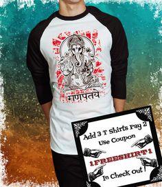 Shree Ganesh!!! - Playera de Ganesh - Serigrafía de ArteImMrAmA en Etsy