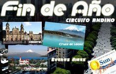 Te invitamos para un #Circuito #Andino con #tiquete aéreo, 3 noches en #Santiago de #Chile, 1 noche en #Puerto #Varas, #Cruce de #Lagos, 2 noches en #Bariloche, #Argentina, 3 Noches en #Buenos #Aires, Traslado, #City Tours, Cena Show de Fin de Año, desayunos diarios. Los #hoteles son de categoría de primera como el San F. Plaza/Cabañas del Lago/Kenton/Reconquista Garden o similar. #Reserveplandeviaje  o en www.sunbeachcali.com