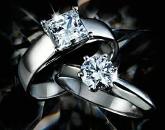 Diamond Engagement and Wedding Rings - simply stunning!