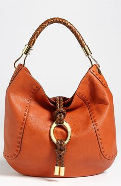 Michael Kors OFF! Michael Kors 'Skorpios' Leather Hobo available at Hobo Handbags, Prada Handbags, Fashion Handbags, Purses And Handbags, Fashion Bags, Fashion Accessories, Latest Handbags, Fashion Fashion, Runway Fashion