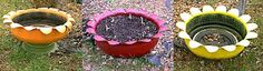 Flower planter made out of an old tire! I HAVE TO DO THIS!!! Follow this link for instructions http://www.wuvie.net/tireplanter.htm