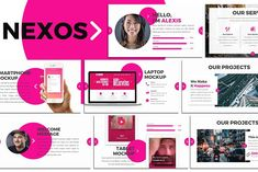 Nexos - Creative Keynote Template This is a multipurpose & Creative Keynote template you can use it for Creative, Pitchdeck, Design, etc. Presentation Design Template, Business Presentation, Design Templates, Business Brochure, Business Card Logo, Minimal Theme, Image Layout, Creative Powerpoint Templates, Brush Sets