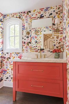 We're so honored to have one of our wallpaper installations and cabinet painting projects featured in this Houzz article, that we just had to share it! And we are tickled pink (orange?) by the playful and cheery design selections by the wonderful Crystal Romero ofBradshaw Designs! Read the full article, with details and before pictures,...