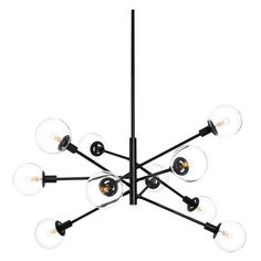 DwellStudio Orb 10 Light Pendant (€3.265) ❤ liked on Polyvore featuring home, lighting, ceiling lights, pendant light, sphere lamp, column lights, circular shades, orb pendant light and round lights