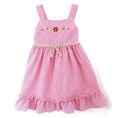 Forever Magic Toddler Girls Gingham Ruffle Dress. Great for Easter! www.YankeeToybox.com #yankeetoybox #easter #easterdress #ruffles #forevermagic #gingham Easter Dress