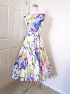 Lovely Chiffon 1960s Style Dress, $179, on Etsy, Tenderlane Boutique.  They have such cute stuff.