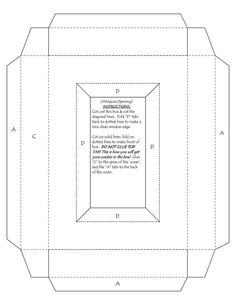 "Greeting Card Box Template | make a 5x7 greeting card, where the back of the card is a 1"" deep box ..."