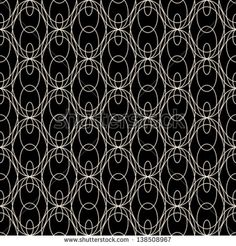 Seamless lace pattern on black, vector background - stock vector