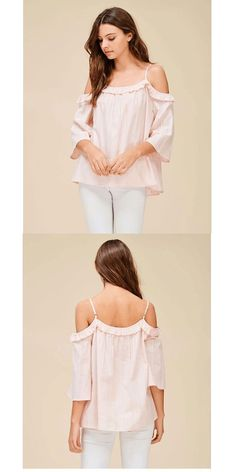 ae4bd2dd7c367 Ruffle Off Shoulder Top Cute Relaxed Fit   Gorgeous off the shoulder top