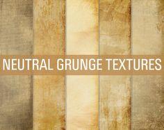 50% OFF SALE Neutral Grunge Digital Papers Grunge Textures Grunge Paper Pack Instant Download on Etsy, $1.50