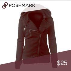 Black hoodie jacket women L NWOT NEW!! Large Black soft material jacket zipper coat. NEW WITHOUT TAGS!! Jackets & Coats Pea Coats