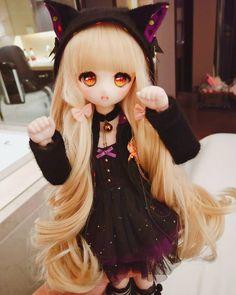 Anime Dolls, Blythe Dolls, Pretty Dolls, Cute Dolls, Anime Chibi, Kawaii Anime, Doll Organization, Barbie Images, Kawaii Doll