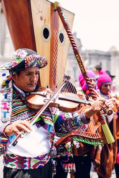 Traditional musicians in Peru #travel #SouthAmerica #Peru