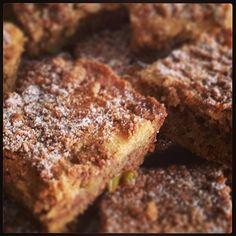 Morning coffee cake! Cinnamon apple crumb streusel